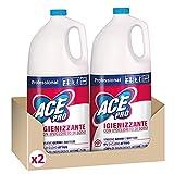 ACE Professional Candeggina Igienizzante, Cartone da 2 x 5lt