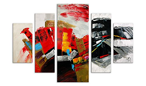 Arte Dal Mondo Edgar Ramirez Astratto Wandverzierung, Stoff, Holz, Bunt, Dipinto composto