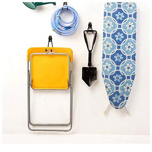 Garage Storage Utility Hooks, Wall Mount Hanging Hooks, Steel U-Hooks Tool Organizer Holder, 2-Pack