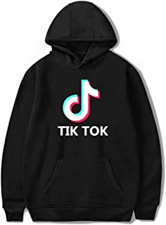 Men Women Pullover Hoodie, Hooded Sweatshirt, Tik Tok Long Sleeve Loose Sweater Couple Wear