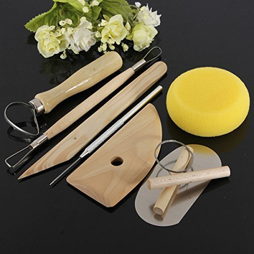 8pcs Wood metal Pottery Clay Ceramics Molding Carving Sculpting Tools by yarich