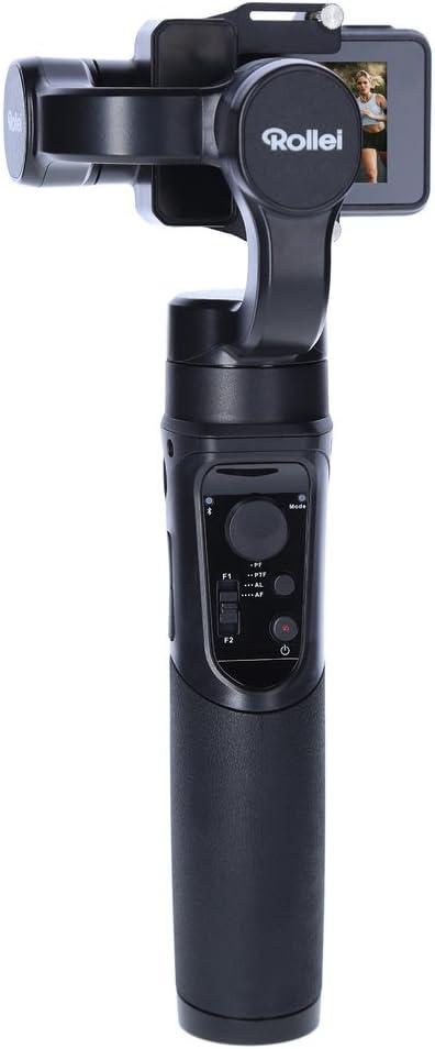 Rollei Actioncam Gimbal Steady Butler Action - Estabilizador de 3 ejes / Steadycam para Actioncams con batería Power Bank y aplicación integradas con muchas características adicionales, adecuadas