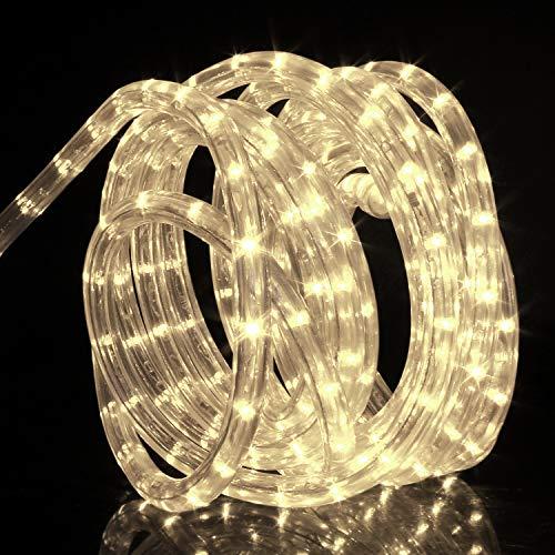 Forever Speed 14M Tubo de LED Manguera LED Luces de Tira de Manguera Exterior e Interior Blanco Cálido,Tiras LED Adecuado para Decoración e Iluminación Navidad, Halloween, Boda,Fiesta, Hotel, Jardín