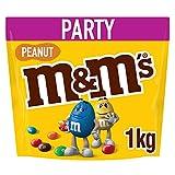 M&Ms Peanuts Snack en Bolitas de Colores de Cacahuete y Chocolate con Leche, 1 kg