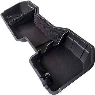 Tyger Auto Underseat Storage Box TG-CB5C2238 for 2014-2018 Chevrolet Silverado/GMC Sierra LD; 2015-2019 Silverado/Sierra HD Crew Cab | Black Textured Rear Under Seat Storage Organizer Cargo Box