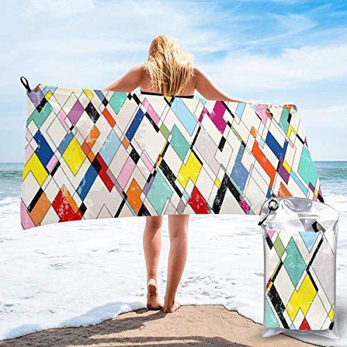 shenguang Papel Pintado a Cuadros de Colores Impreso Viajes Toallas de baño de Secado rápido Gimnasio Deportivo Toallas de Playa de Microfibra Camping Natación Toalla compacta
