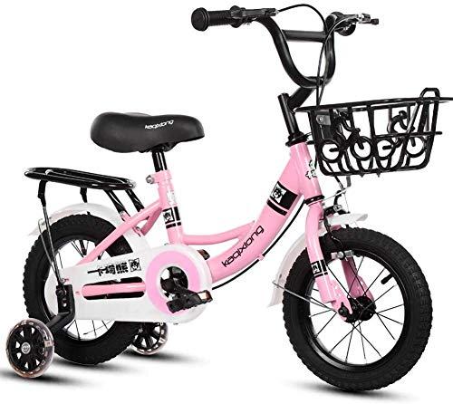 Ejercicio for Bicicleta de niños 12/14/16/18 Pulgadas 2-9 Años de Edad de los niños con el Entrenamiento Rueda de la Cesta Niño Niña Ciclo al Aire Libre (Color : Pink, Size : 16in)