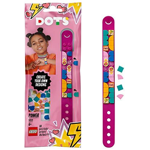 LEGO 41919 DOTS Superhelden Armband mit bunten Steinchen, Bastelset für Kinder, DIY Kreativset