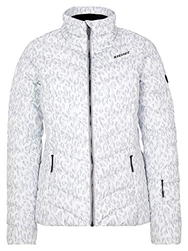 Ziener Damen Talma Ski Winter-Jacke   Warm, Atmungsaktiv, Wasserdicht, Leo, 38