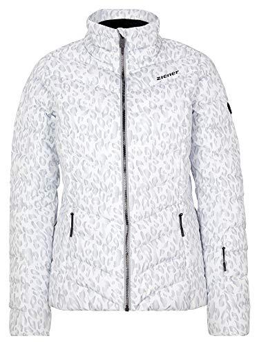 Ziener Damen Talma Ski Winter-Jacke | Warm, Atmungsaktiv, Wasserdicht, Leo, 36