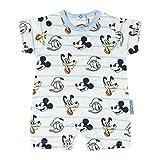 Cerdá Pelele Niño de Disney-Mickey Mouse, Donald y Pluto Juego de Pijama, Blanco, 6 Meses para Bebés