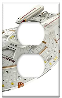 Switch Plate Outlet Cover - Spaceship Star Trek Model Isolated Science Fiction
