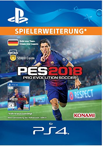 PES 2018 myClub Coin 12000 [PS4 Download Code - deutsches Konto]