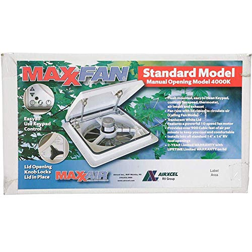Maxxair Vent Corp 00-04000K Maxxfan Plus Vent 14' 12V White