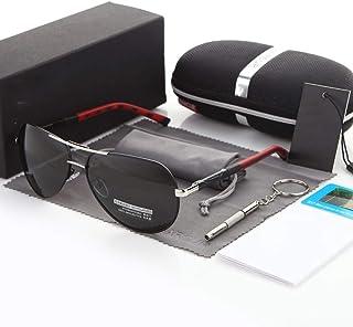 GAOYOO - GAOYOO Gafas De Sol Aluminio Magnesio Hombres Hombres Revestimiento Polarizado Espejo Gafas Accesorios para Hombres Gafas para Hombres