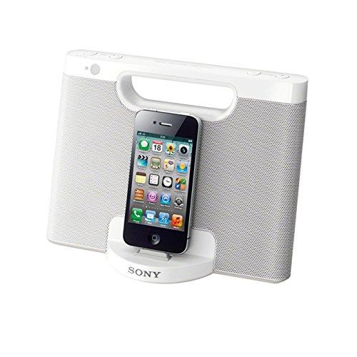 Sony RDP-M7IPWN Lautsprecher mit Docking Station für Apple iPod/iPhone 5 weiß