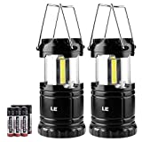 LE Portable LED Camping Lantern, Collapse, Water Resistant, Adjustable Brightness Camping Flashlight Lantern