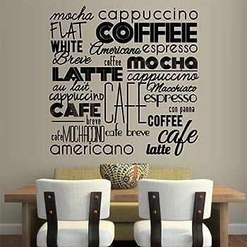 Wall Tattoo Coffee Time Saying Cafe Sticker Kitchen Wall Wall Tattoo #2021