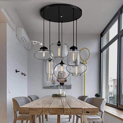 WOF Designer's Light Bar Restaurantbar Kreatives Wohnzimmer Nordic Cafe Persönlichkeit minimalistisch Glas Pendelleuchte (größe : B)