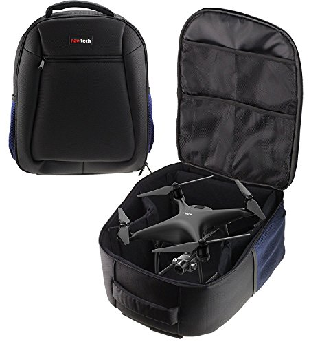 Navitech Rugged Black Carry Backpack/Rucksack/Case for TheDrone Force Stinger Drone