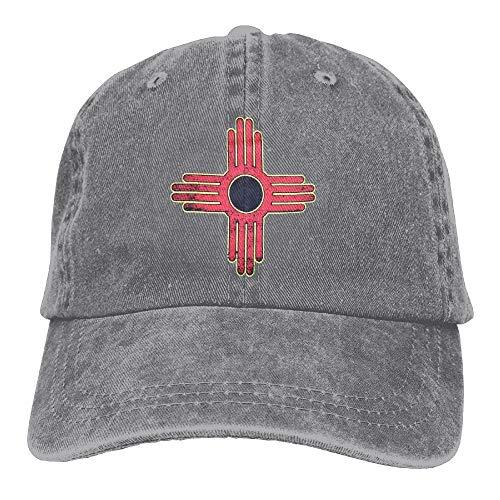 Gorras De Golf Hombre Mujer Gorra De Béisbol Bandera De Nuevo México Vintage Teñida De Negro Gorra Trucker Unisex Sombrero De Sol Washed Gorra De Náutica para Adulto