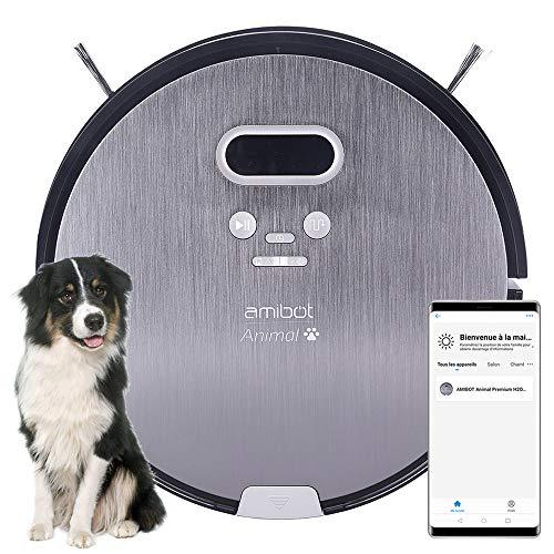 AMIBOT Animal Premium H2O Connect - Robots Aspirateurs et laveurs spécial Poils d'animaux