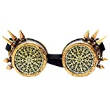 Retro Steampunk Goggles, Spot Vintage Pilot Style Cruiser Scooter Cool & Safety
