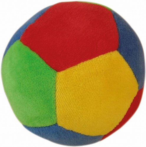Bieco Ball Kleinkinder mit Rassel | 11 cm | Baby Spielzeug ab 12 Monate |  Mädchen und Jungen | Softball | Activity Ball | Stoffball | Spielball | Ball Soft | Hund Softball |