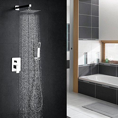Colonna doccia,8 Pollici Sistema di Doccia Termostatico Multifunzione, Modalità Pioggia, 304 Acciaio Inossidabile, Set Doccia,Kit da doccia a combinazione doccia a pioggia da bagno