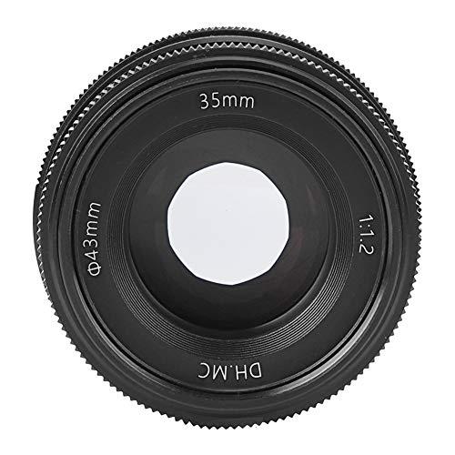 Lente de cámara sin Espejo, Lente de 35 mm F1.2 Cámara Profesional Vidrio de cámara Lente de Enfoque Fijo Manual, Consum(Fuji FX Mount)