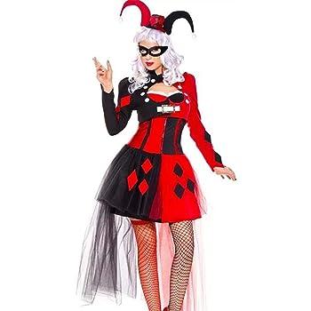 hhalibaba Adulto Harley Quinn Cosplay Disfraz de Payaso Divertido ...