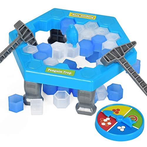 Dettelin Penguin Trap Puzzle Juego de Mesa Juego de rompehielos Save The Penguin Kids Educación temprana Juego Familiar, Penguin Break Ice Block Hammer