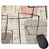 """Mid Century Modern Abstract Mouse Pad Non-Slip Rubber Gaming Mouse Pad Rectangle Mouse Pads for Computers Desktops Laptop 9.8"""" x 11.8"""""""