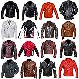 Mens Marlon Brando BRMC Skull Motorcycle Wild One Johnny Strabler Biker Leather Jacket
