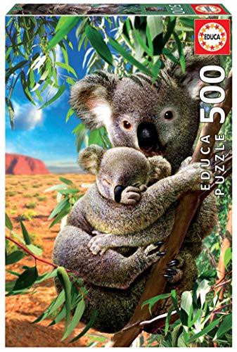 Educa - Genuine Puzzles. Koala con cucciolo. Puzzle 500 pezzi. Rif. 18999