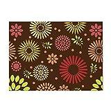 Manteles Individuales Antideslizante ,6 piezas Fuwatacchi caliente personalizable colorido mantel de flores servilleta de tela posavasos decoración de mesa alfombra accesorios de cocina-poliéster11_L