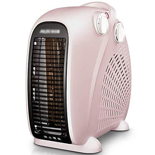 WUX radiator, 2000 W, verticaal, vlak, ventilator met twee warmtestanden en koude standen, roze B
