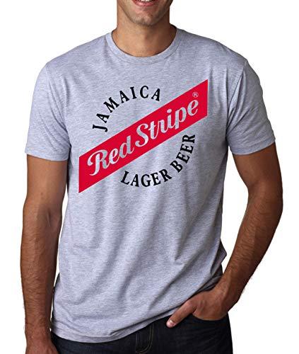 Jamaica Red Stripe Herren T-Shirt Weiß Grau Schwarz XX-Large