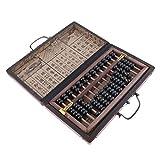 MagiDeal Ábaco Aritmético de Grano Calculadora China con Caja - 13 filas