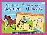 Dessine des chevaux - 12 cartes pochoirs