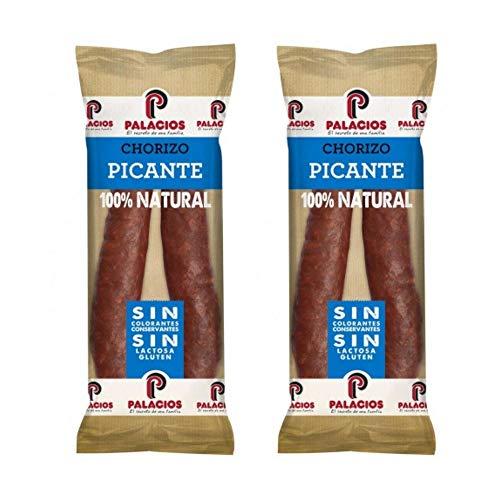 Chorizo Palacios Picante -Peso Aproximado 300 gramos Unidad - El chorizo por excelencia - Chorizo Riojano - Sin Gluten . Sin Lactosa