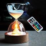ZAMTAC Novelty Hourglass Night Led Light Marc Newson Little Spheres Nanoballs Gold Ball Sandglass zandlo Decoration lamp abajur luminar - (Color: Gold Balls)