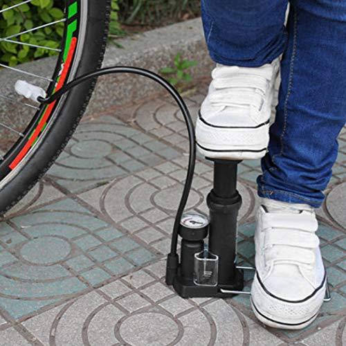 DAUERHAFT Aufblasbare Fahrradpumpe Mountainbike-Pumpe Langlebig, kompatibel mit Schrader/Dunlop-Ventil