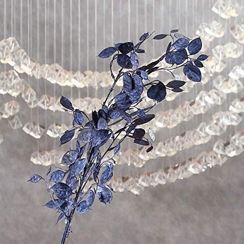 YYCVVH Fiori Artificiali Fiorellini per bomboniere Foglia di Banyan per Bouquet per Matrimoni, casa, Giardino, Decorazione 5 Bastoncini-Blu Scuro