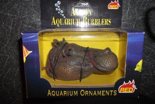 Hippo hoofd actie Bubbler Aquarium Decoratie. FISH TANK BUBBLER.
