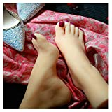 EDOSTORY Fuß Fuß Fuß Fetisch Spielzeug, Silikon Fuß Foot Fetish Modell, 36A Mädchen Füße Modellsimulation Fuß Fuß Kunst Und Kultur Modell, Modell Requisiten,Deluxe Version,one Pair