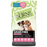 Burns Pet Nutrition Hypoallergenic Complete Dry Dog Food Puppy Grain Free Duck and Potato Grain Free 2 kg