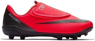 e472d107646 Nike Botas de Futbol CR7 Mercurial Vapor 12 Club Suela MG con Velcro Roja  Niño