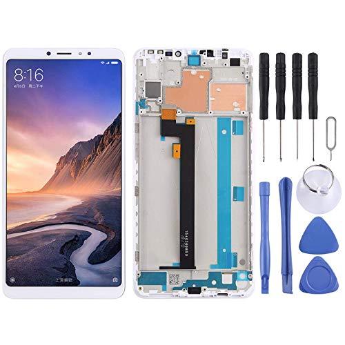 De Galen Kit de accesorios de repuesto LCD para pantalla LCD Xiaomi y digitalizador completo montaje con marco para Xiaomi Mi Max 3 reemplazo (color: blanco)