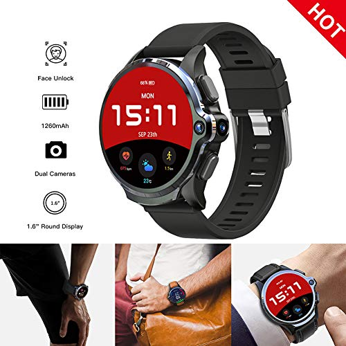 3GB 32GB Smart Watch mannen 1260mAh batterij Dual Camera Face ID Unclok 1.6